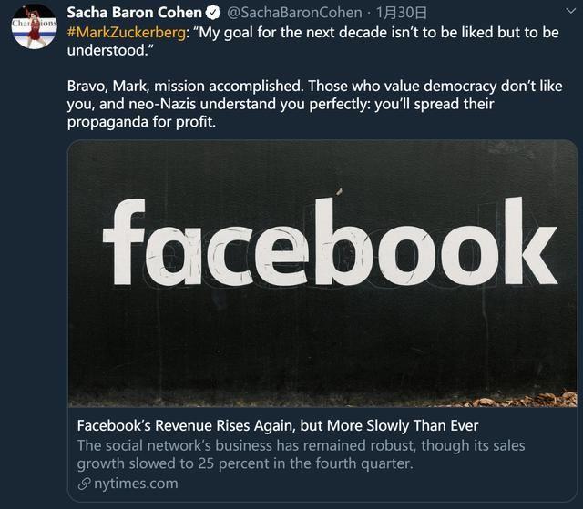[呼吁]马斯克呼吁删除Facebook:它太烂了