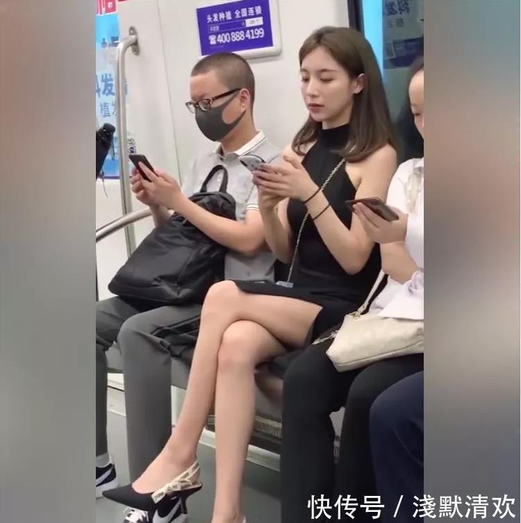 """最美""""地铁女神""""抖音走红,网友: 这样的小姐姐不应该在法拉利上面吗?"""