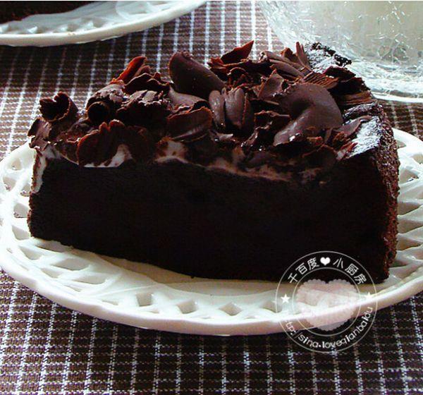 蛋糕:香醇黑巧克力蛋糕