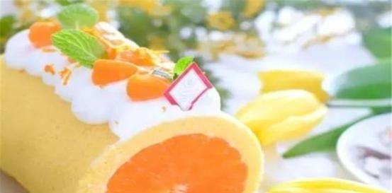 """#蛋糕#爆汁橘子蛋糕卷,将整个橘子卷进蛋糕,侧颜美""""炸天"""""""