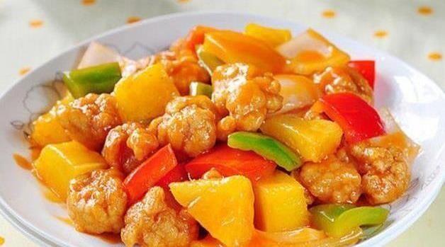 里脊肉■美食精选:菠萝咕噜肉,猪肝烧豆腐, 酸辣凉拌面 ,三鲜豆腐的做法