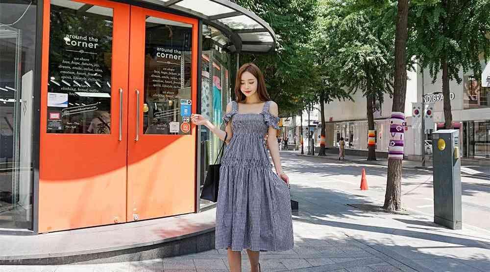 森女系连衣裙,千格鸟的经典永远不会过时,美丽与魅力完全并存 森系搭配 第4张