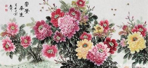 #富贵#当代著名画家石开作品欣赏 牡丹画优秀作品赏析