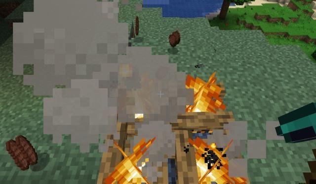 「不少」我的世界篝火方块4种趣味用法,既可以烧烤,还能用来泡温泉