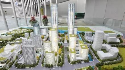 """上海320米超高层""""张江科学之门""""今起全面建设,建筑企业扩增订单积极复产"""