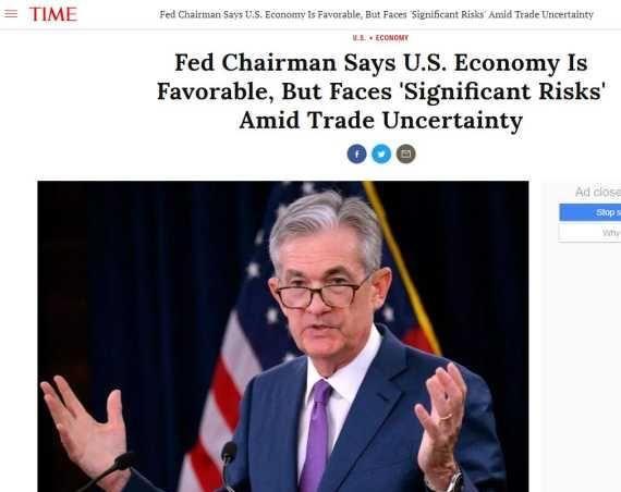 【经济】全球财媒头条:鲍威尔称美经济面临重大风险