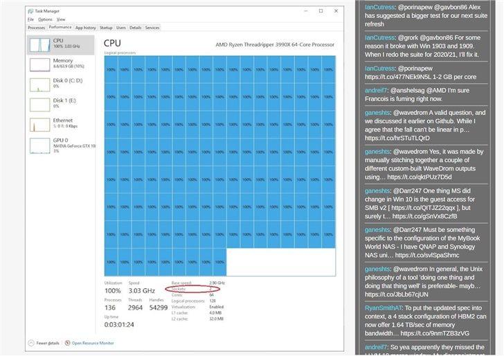 """『框框』""""框框""""太多了!Windows 10 将AMD 3990X识别成两个处理器"""