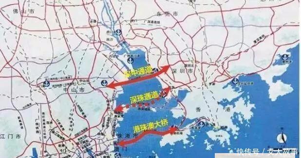 """港珠澳大桥后,深圳珠海拟建""""超级跨海通道""""!"""