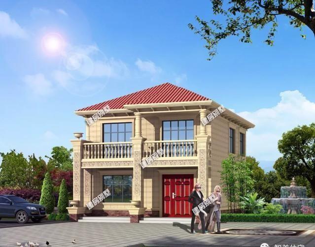 #最合适#宽8-9米之间的两层别墅, 造价20万左右, 小宅基地建最合适