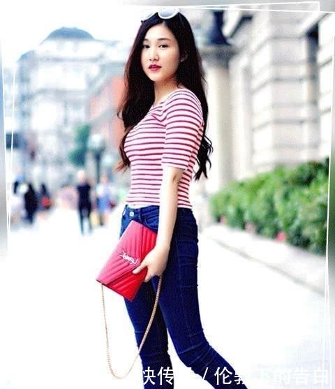 贴合:紧身牛仔裤完美贴合身形,轻松百搭,穿出时尚女神范儿