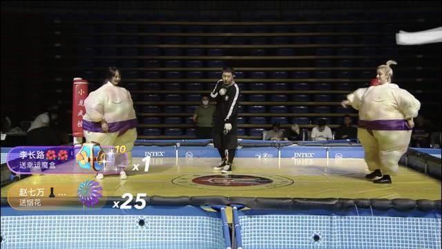 『铁岭小辉』方丈直播间举办网红相扑大赛!时大漂亮发文表示辛巴也是英雄