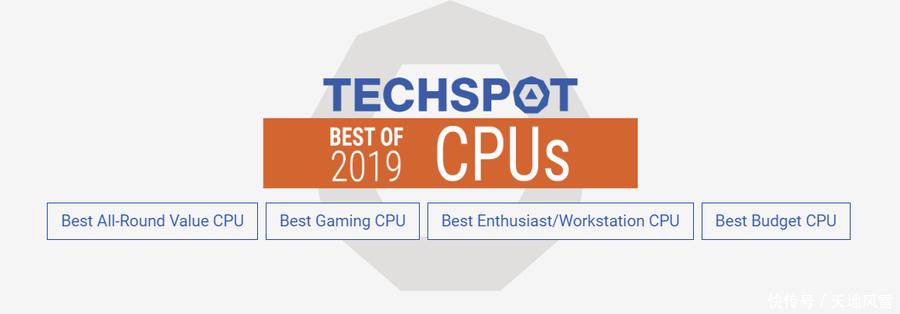 TechSpot 2019最佳处理器榜单