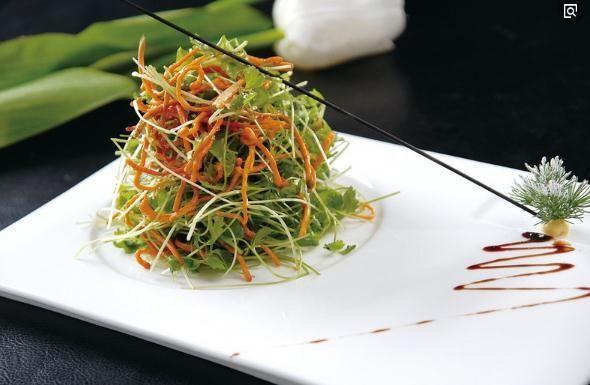 家常菜蘸汁野菜虫草花