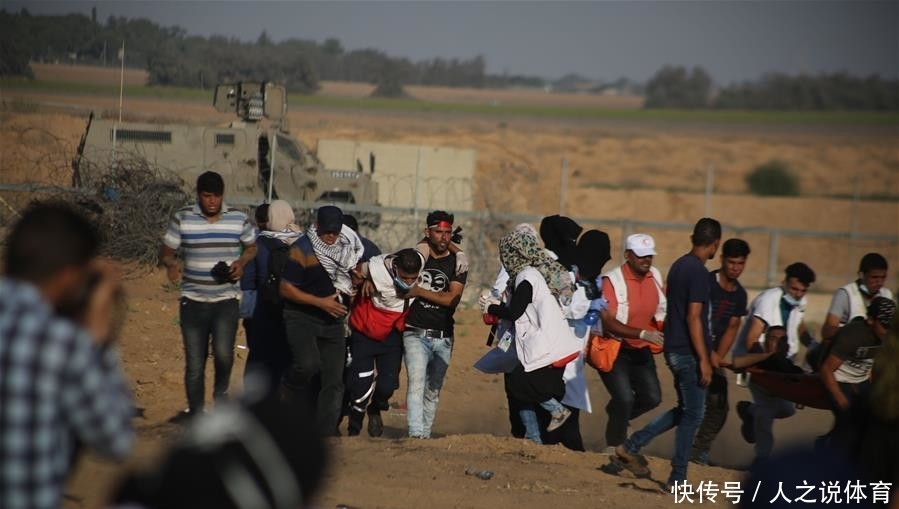 巴以冲突致75名巴勒斯坦人受伤
