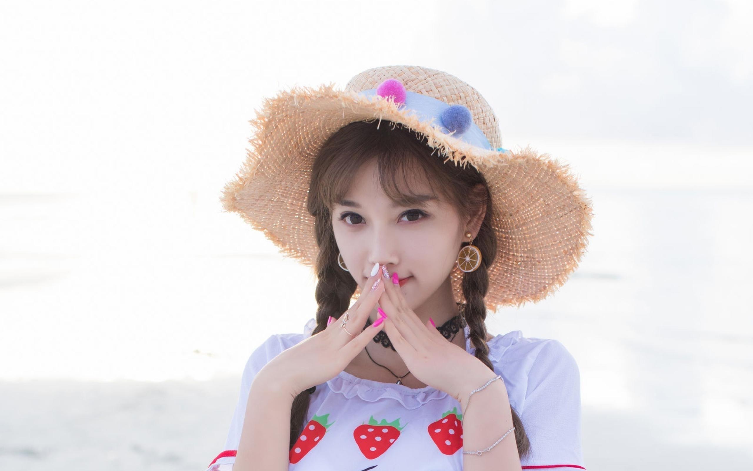 好可爱的小美女,海边摄影写真,清新靓丽,迷人插图(7)