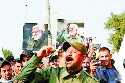 美、英民众抗议美军在中东军事行动