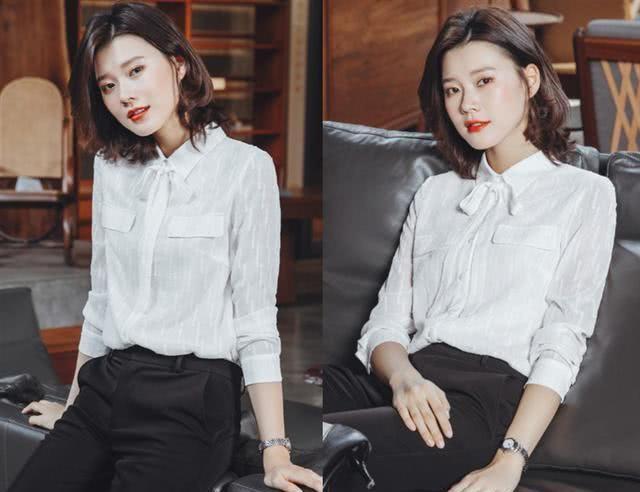 """职业OL风@女人如何把""""白衬衫""""穿出高级感?这样搭配大方知性、很美很气质"""