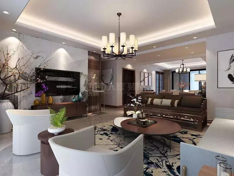 秦皇岛装修公司排名,金屋秦皇半岛八区130平新中式城市人家设计
