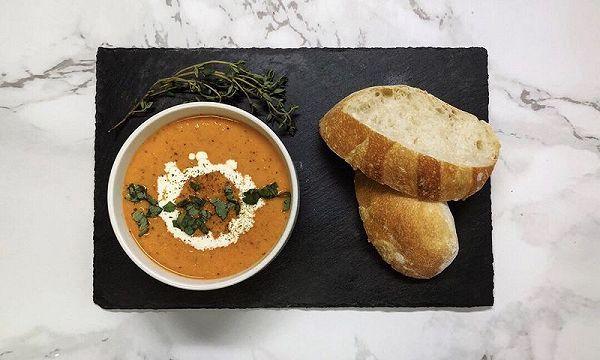 番茄汤  法式巴达包
