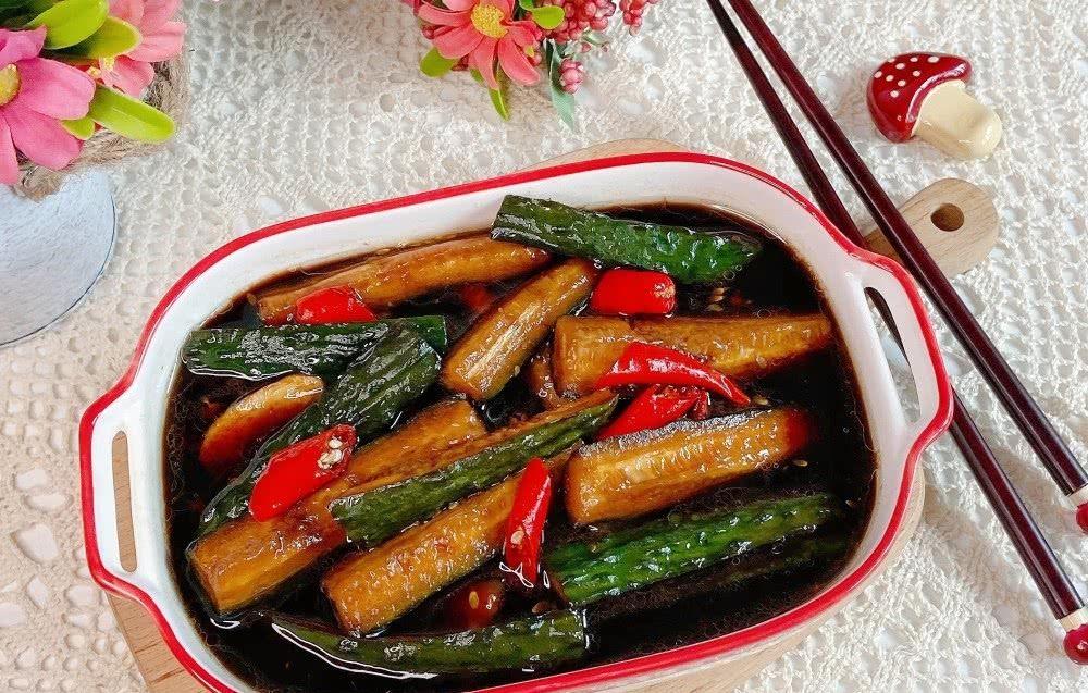 青瓜@80岁老奶奶教腌青瓜,按着方子做一次成功,酸辣开胃,爽脆下饭