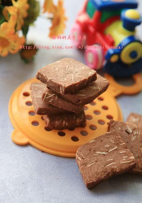「巧克力」杏仁片巧克力饼干
