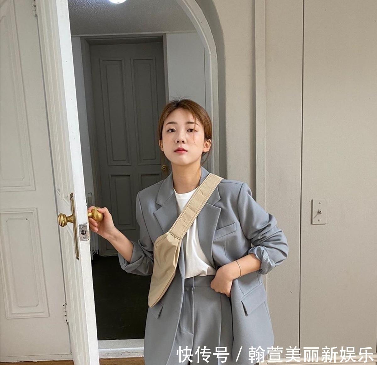 韩国博主教你如何搭配服装,春季穿出时尚范儿,简约显瘦又大气