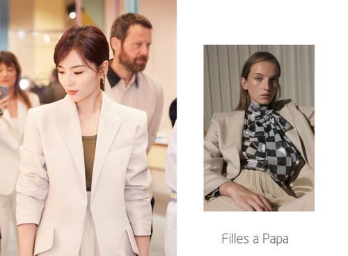 刘涛又凹东装故造型,混搭高开叉半裙气质出寡,41岁美成小姑娘