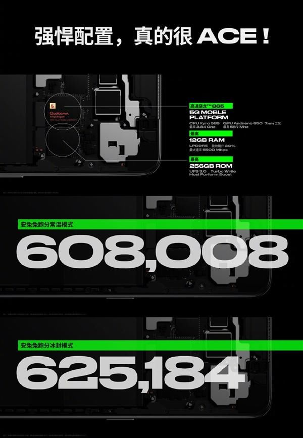 「公布」安兔兔跑分超62万 OPPO Ace2核心参数公布:865+90Hz屏