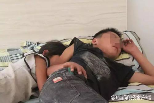3名贵州小孩在服务区爬进货车跟到内江威远,最小的才7岁