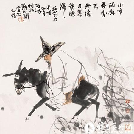 最有才能、最富有创造精神的画家——卢沉水墨人物画欣赏
