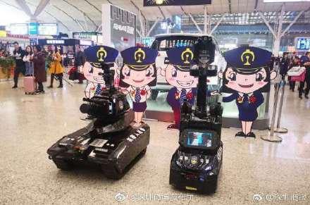 春运首日机器人战警亮相深圳北,高峰期乘高铁请提前2小时到站!