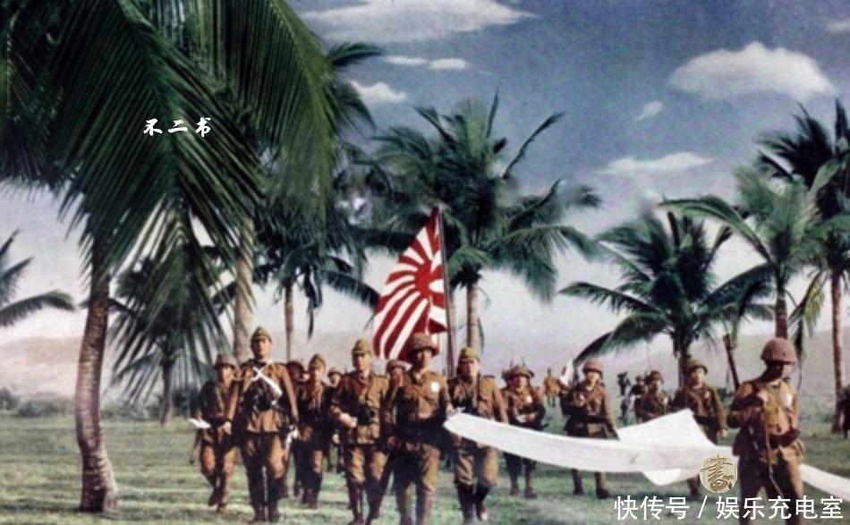 『白旗』二战日军上色老照片:镜头下入侵东南亚的疯狂,英军举白旗投降