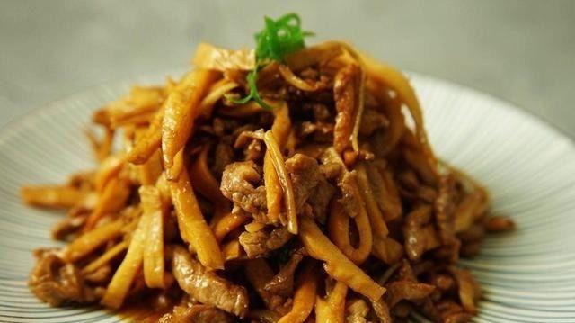 鲜美■笋干炒肉丝,鲜美入味超下饭
